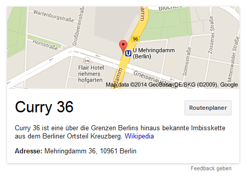 "Screenshot Suchergebnis ""Curry 36"" Google-Snippet im Desktop Browser"
