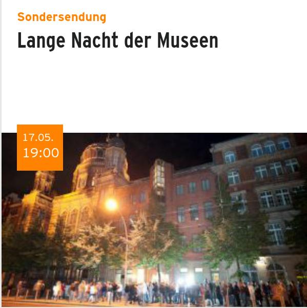 Screenshot der mobilen Website von Radio Eins, Teaser zu Veranstaltungs-Text