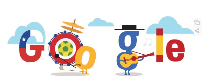 Google Doodle zum WM-Spiel Spanien gegen Chile